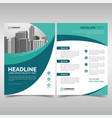 business brochure template with wavy shapes vector image vector image