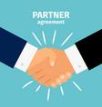 business partnership handshake vector image
