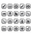 car part and services icons 1 vector image vector image