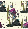 cartoon 3d fungus vector image vector image