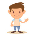 cartoon cute boy stands in a confident pose vector image vector image