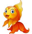 cartoon golden fish vector image