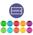 Choice flat icon vector image vector image