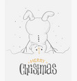 christmas greeting card design with upside down vector image