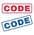 Code Rubber Stamps vector image vector image