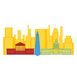 colored cityscape of washington city vector image