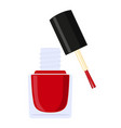 colorful cartoon open red nail polish bottle vector image vector image
