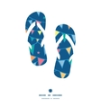colorful doodle bunting flags flip flops vector image vector image