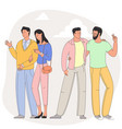couples on romantic date vector image