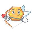 cupid hexagon character cartoon style vector image vector image