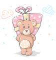 cute baby teddy cartoon character vector image vector image