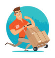 delivery worker vector image vector image