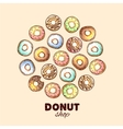 Donut for your design vector image