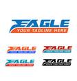 eagle express logo vector image