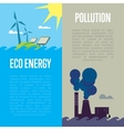 Eco energy and air pollution banners vector image