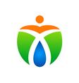 eco people bio organic logo vector image vector image