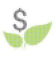 eco startup halftone icon vector image