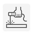 electrode welding icon vector image