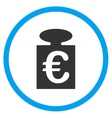 Euro Weight Rounded Icon vector image vector image