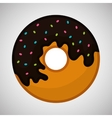 Flat about donut design vector image
