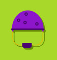 flat icon design collection helmet with bullet vector image vector image