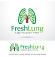 fresh lung logo template vector image vector image