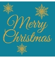 gold merry Christmas vector image vector image