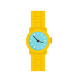 gold watch icon flat style vector image