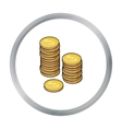 Golden coins icon in cartoon style isolated on vector image vector image