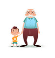 grandfather and grandson holding hands little boy vector image vector image