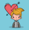 groom lover with suit and hairstyle design vector image vector image
