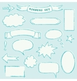 Hand-drawn borders set vector image vector image