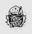 hand drawn typography halloween poster vector image vector image