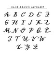 hand written alphabet cursive capital vector image