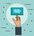 hands holding placard for message help donation vector image