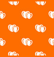 heart love pattern orange vector image vector image