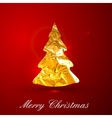 Holiday of a golden metallic foil Christmas vector image vector image