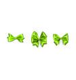 holiday satin gift bow knot ribbon vector image vector image