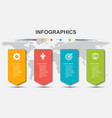 infographic design template with 4 steps