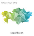 isolated icon kasakhstan map polygonal vector image vector image