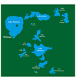 map lakes in rotorua lakes district new zealand vector image vector image