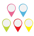 Map pointer set Colorful round markers vector image vector image