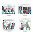 people transport flat concept vector image vector image