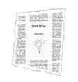 piece of newspaper vector image vector image