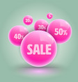 pink ball group for sale promotion advertising vector image