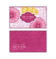 pink field flowers horizontal frame pattern vector image
