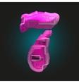 pink plastic figure 7 vector image vector image