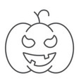 pumpkin thin line icon gourd and autumn squash vector image vector image