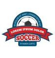 Round soccer logo template isolated on vector image
