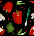seamless pattern with ripe vegetables vector image